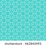 seamless islamic pattern of... | Shutterstock .eps vector #462843493