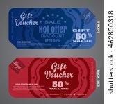 blank of gift voucher vector... | Shutterstock .eps vector #462850318