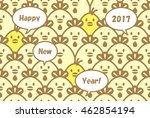 many chickens   chicks say... | Shutterstock .eps vector #462854194