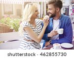 funny moments with good coffee | Shutterstock . vector #462855730