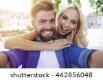 selfie taken by happy young... | Shutterstock . vector #462856048