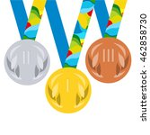 vector prize medals for winners ... | Shutterstock .eps vector #462858730