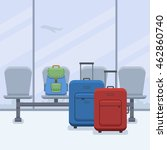 two bags and backpack in flat... | Shutterstock .eps vector #462860740