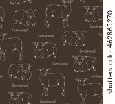 lambswool sheep pattern ... | Shutterstock .eps vector #462865270