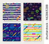 vector set of abstract... | Shutterstock .eps vector #462865288