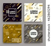 vector set of abstract... | Shutterstock .eps vector #462865294