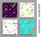 vector set of abstract... | Shutterstock .eps vector #462865309