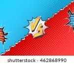 versus letters fight... | Shutterstock .eps vector #462868990
