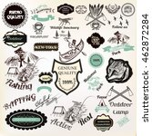 big collection of vector labels ... | Shutterstock .eps vector #462872284