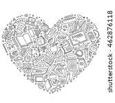 line art vector hand drawn set... | Shutterstock .eps vector #462876118