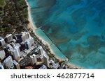 aerail view of waikiki ... | Shutterstock . vector #462877714