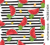 water melon seamless pattern... | Shutterstock .eps vector #462881404
