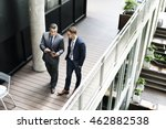 businessmen discussion standing ... | Shutterstock . vector #462882538