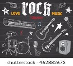 music instruments set. hand... | Shutterstock .eps vector #462882673
