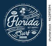 florida surf typography  t...   Shutterstock .eps vector #462895894