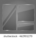 glass plates set. vector... | Shutterstock .eps vector #462901270