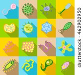 germ and pathogen icons set in... | Shutterstock .eps vector #462902950