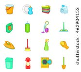 household elements icons set in ... | Shutterstock .eps vector #462904153