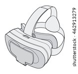 virtual reality glasses | Shutterstock . vector #462913279