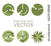 trees top view vector icons   Shutterstock .eps vector #462918868
