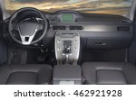 modern car interior with sunset ... | Shutterstock . vector #462921928