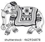 zentangle stylized black...   Shutterstock .eps vector #462926878