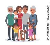 big african american family... | Shutterstock . vector #462930304