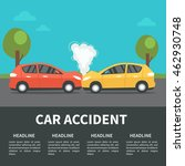 car accident concept... | Shutterstock . vector #462930748