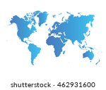 world map | Shutterstock .eps vector #462931600