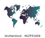 world map | Shutterstock .eps vector #462931606