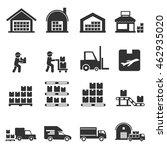 warehouse icon vector  | Shutterstock .eps vector #462935020