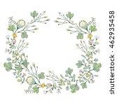 vector adorable floral... | Shutterstock .eps vector #462935458