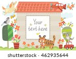 vector adorable illustration of ... | Shutterstock .eps vector #462935644