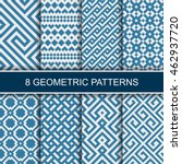 set of vector geometric... | Shutterstock .eps vector #462937720