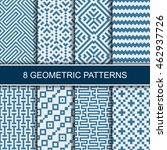 set of vector geometric... | Shutterstock .eps vector #462937726