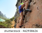 young woman rock climber... | Shutterstock . vector #462938626