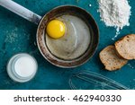 breakfast with egg and bread  | Shutterstock . vector #462940330