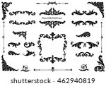ornate scroll and decorative... | Shutterstock .eps vector #462940819