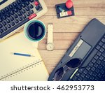 office desk background. coffee  ... | Shutterstock . vector #462953773