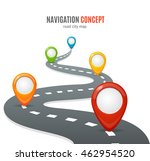 navigation concept. road with... | Shutterstock . vector #462954520