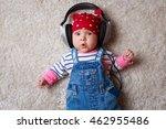 Funny Baby In A Big Headphones...
