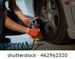 auto mechanic worker in garage. ... | Shutterstock . vector #462962320