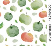 watercolor apple background.... | Shutterstock . vector #462964600