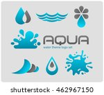 design set of water logotypes... | Shutterstock .eps vector #462967150