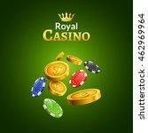 casino money coins winner.... | Shutterstock .eps vector #462969964