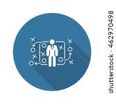 tactics icon. flat design. a...