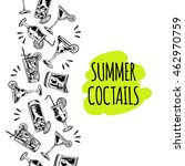 summer coctails on white... | Shutterstock .eps vector #462970759