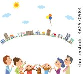 three generation family and... | Shutterstock .eps vector #462970984