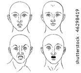cartoon emotions set vector... | Shutterstock .eps vector #46298419