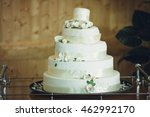 tasty wedding cake decorated... | Shutterstock . vector #462992170